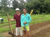 Adriana y Fernando, la joven pareja que dió vida a la Finca Orgánica la Subversiva. Fuente: 3Colibrís.